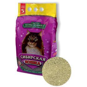 Наполнитель комкующийся Сибирская кошка  'Экстра' для кошек, 5 л Ош