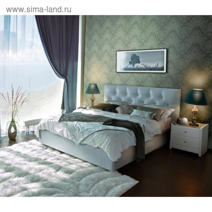 Кровать Askona MARLENA с подъёмным механизмом 200 х 180 кожзам Экотекс White