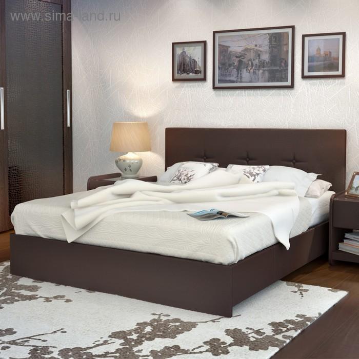 Кровать Askona Isabella 200 х 160 кожзам Экотекс Venge