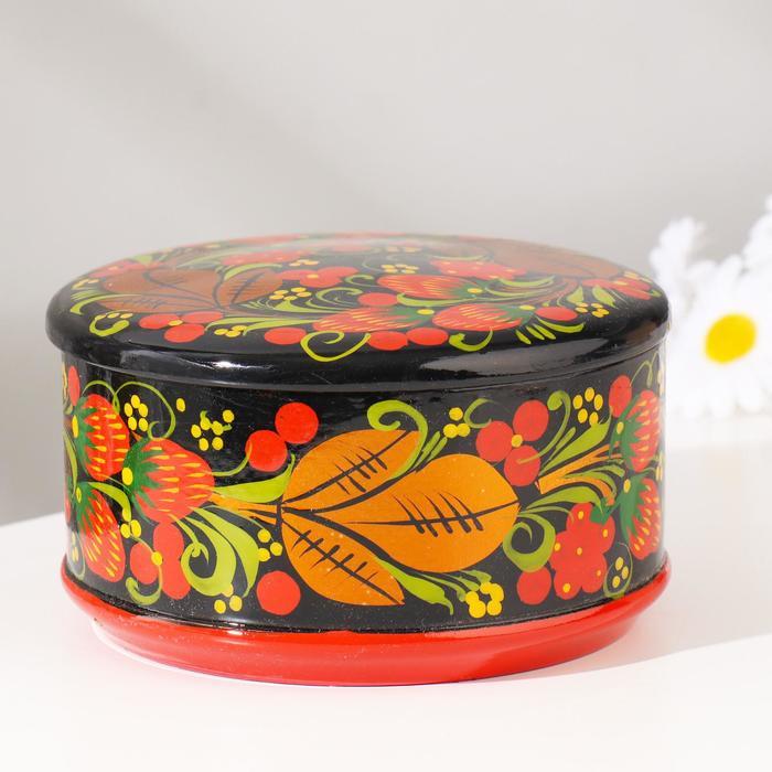 Коробка «Ягодка», большая, 13×9 см, хохлома