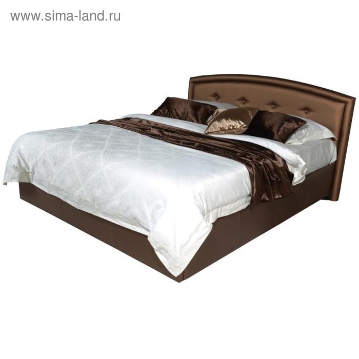 Кровать Askona GRACE с подъёмным механизмом 200 х 180 кожзам Экотекс Venge