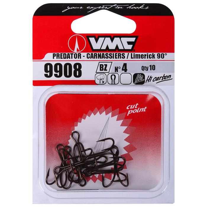 Крючки двойные VMC 9908 BZ № 4, набор 10 шт.