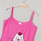 Пижама женская (майка, шорты) Р200135, цвет розовый, рост 158-164, р-р 48 вискоза