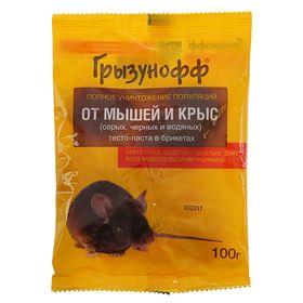 Тесто брикет от грызунов Грызунофф, 100 г