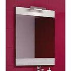 Панель Aqwella Brig с зеркалом и светильником, дуб седой Br.02.06/Gray