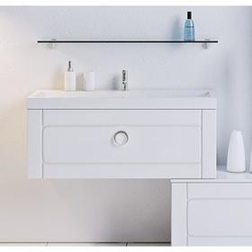 Комплект мебели Aqwella INFINITY 100 подвесной с ящиком, тумба с раковиной Infinity 1000, белый