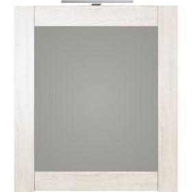 Панель с зеркалом Aqwella SIMPHONY и светильником, сосна беленая Sim.02.07/SB