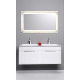Комплект мебели Aqwella MALAGA 120 подвесной, тумба с раковиной Malaga 1200 Duet, белый Mal.01.12