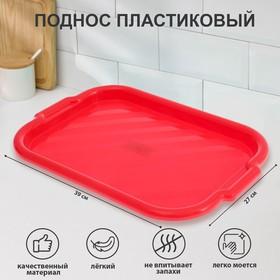Поднос прямоугольный 39х27 см, цвет МИКС Ош