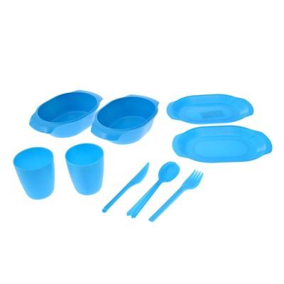 Набор посуды на 2 персоны, цвет МИКС
