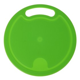 Доска разделочная круглая большая, цвет МИКС