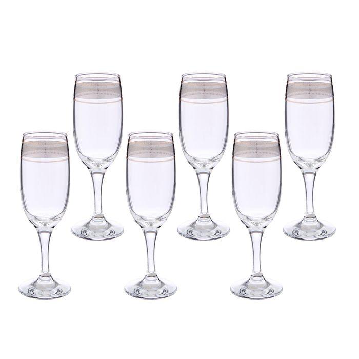 "Набор бокалов для шампанского 190 мл ""Флорис"", 6 шт"