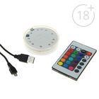 Подсветка для кальяна LED RGB, пульт для контроля 1,7х7см