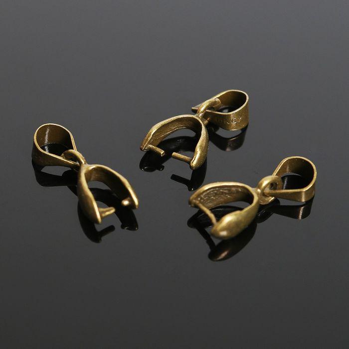 Держатель для кулона К214, (набор 5шт) 14*6 мм, цвет бронзы
