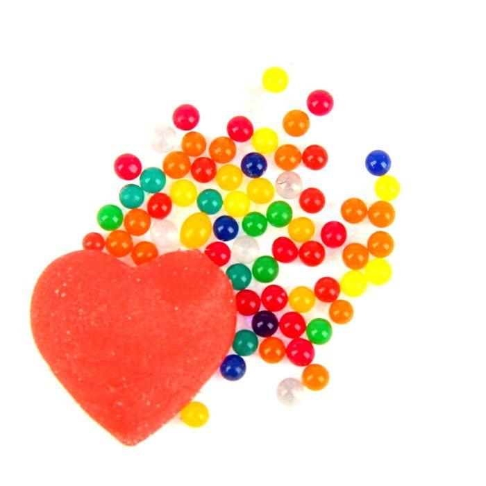 """Растущий гель цветной """"Сердце"""", набор 20 шт."""