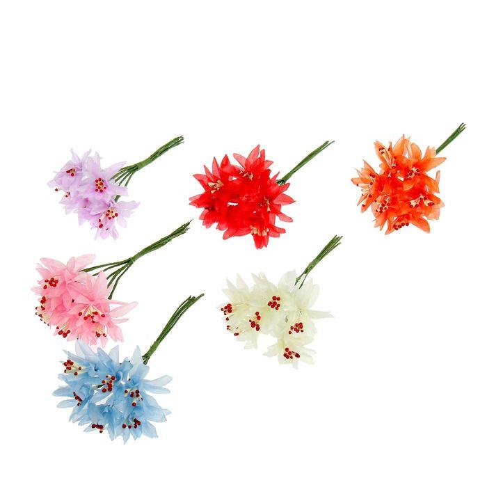 "Декор для творчества ""Лилия"" (1 набор = 1 букет), в букете 6 цветков, МИКС"