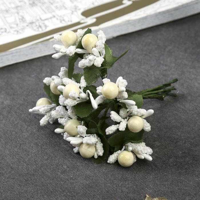 """Декор для творчества """"Ягодный букет"""" (1 набор = 1 букет), в букете 10 цветков, МИКС"""