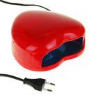 Лампа для гель-лака LuazON LUF-03, LED, 3 Вт, 28 светодиодов, красная
