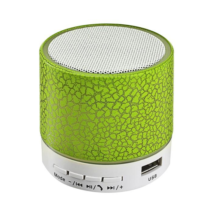 Портативная колонка LuazON LAB-04, с подсветкой, Bluetooth, USB, microSD, microUSB, МИКС