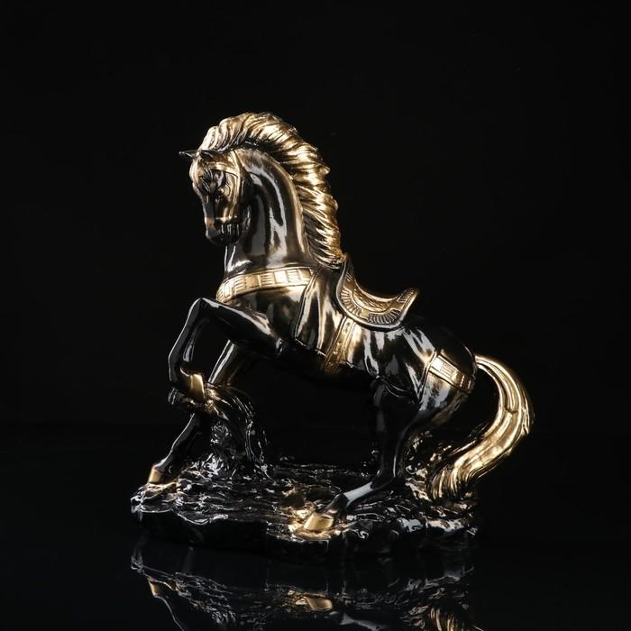"""Сувенир """"Конь на дыбах"""", чёрный, 37 см"""