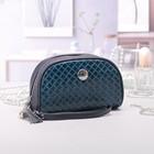 Косметичка-сумочка, отдел на молнии, ручка, цвет бирюзовый
