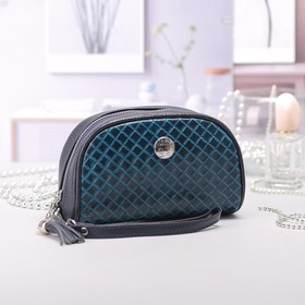 Косметичка-сумочка, отдел на молнии, ручка, цвет бирюзовый Ош