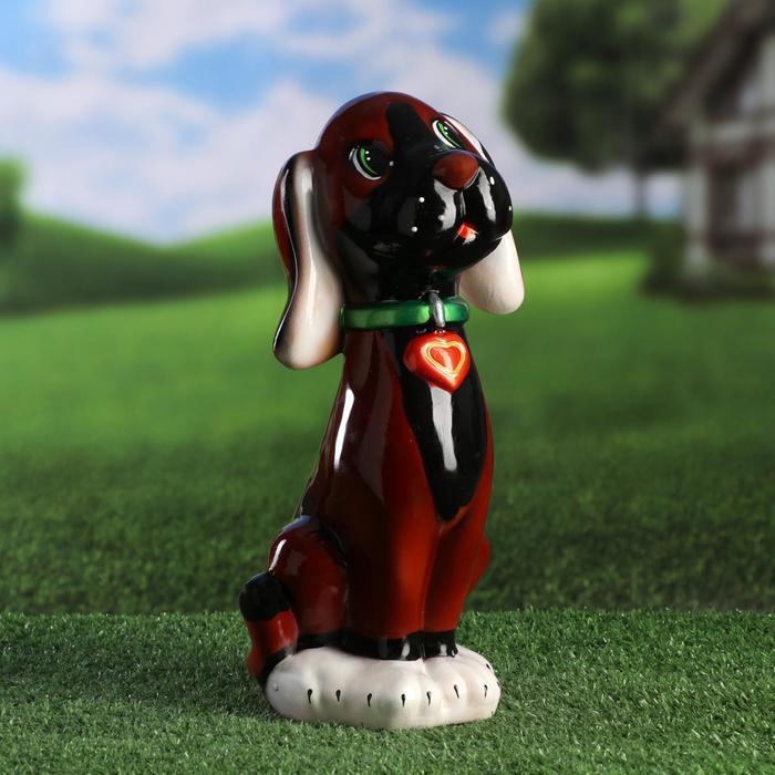 """Садовая фигура """"Собака Риччи"""", коричневый цвет, 32 см, микс"""