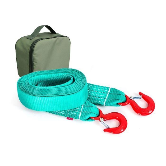 Буксировочный ремень Tplus 6/9 т 4.5 м (а/м до 3 т) Крюк/Крюк + сумка, T001949
