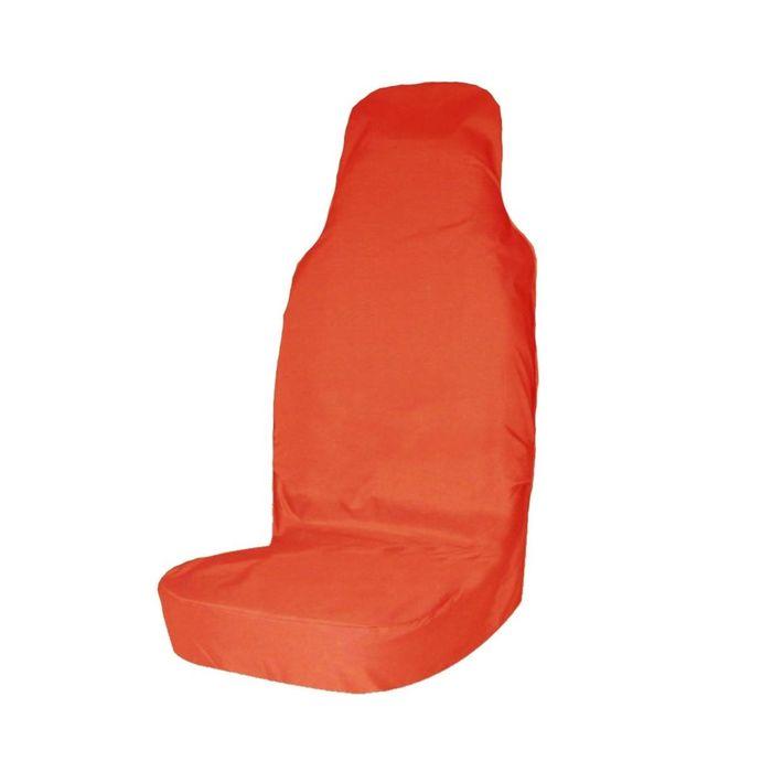 Авточехол грязезащитный Tplus на переднее сиденье, оранжевый, оксфорд 240, T001286