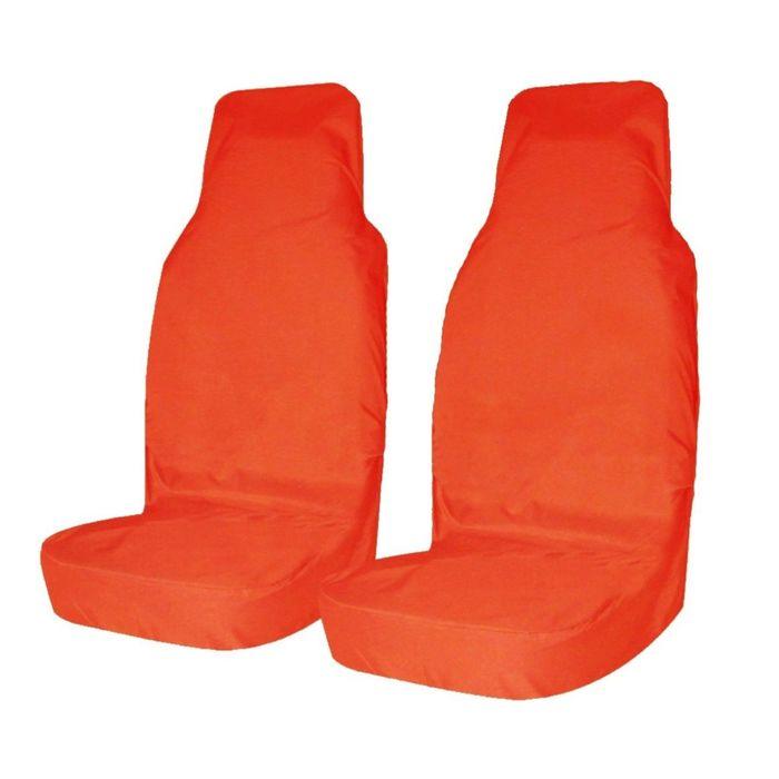 Авточехол грязезащитный Tplus на передние сиденья, 2 шт., оранжевый, оксфорд 240, T001287