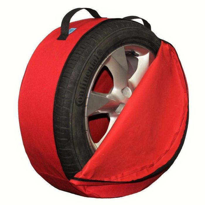 Комплект чехлов для хранения колес Tplus, 750х260 мм, красный, T001356
