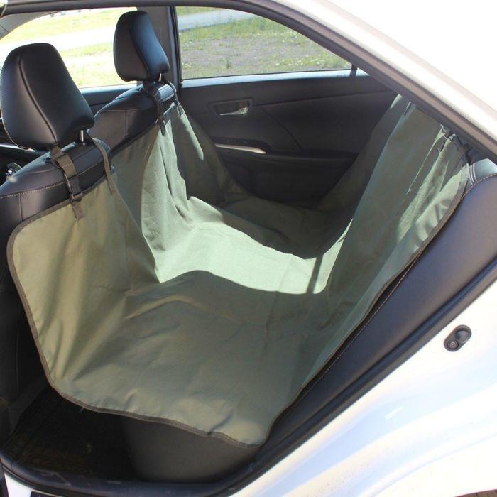 Авточехол-накидка на заднее сиденье Tplus, оксфорд, олива, T002209 - фото 187542