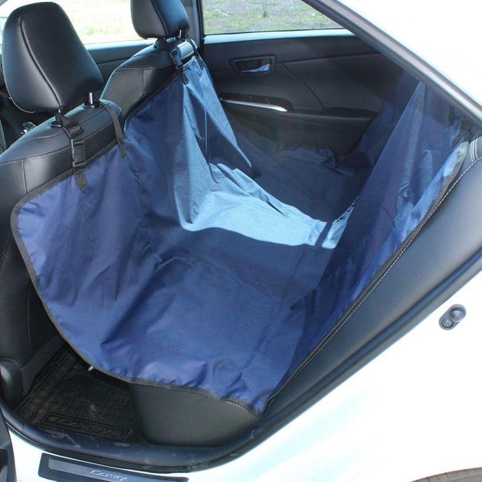 Авточехол-накидка на заднее сиденье Tplus, оксфорд, синий, T002208 - фото 187543