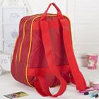 Рюкзак детский, отдел на молнии, наружный карман, цвет красный/жёлтый
