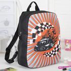 Рюкзак детский, отдел на молниях, цвет чёрный/оранжевый