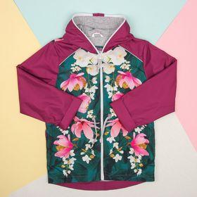 """Куртка детская Collorista """"Цветы"""" рост 98-104 см (30), 3-4 года"""