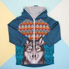 """Куртка детская Collorista """"Волк"""" рост 98-104 см (30), 3-4 года"""