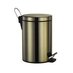 Ведро для мусора Wasser Kraft, 5 л, цвет светлая бронза, с микролифтом