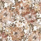 """Клеенка столовая 100х140 см """"Цветы"""", цвет коричневый"""