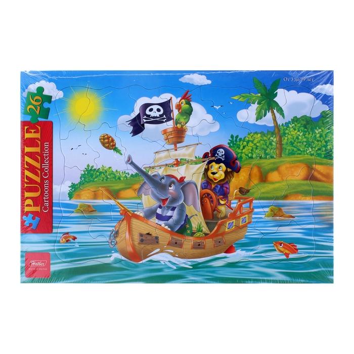 """Пазлы в рамке """"Забавные пираты"""", 26 элементов"""