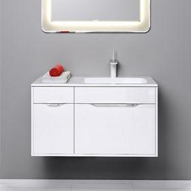 Комплект мебели Aqwella MALAGA 90 подвесной, тумба с раковиной Malaga 900R, белый, правый