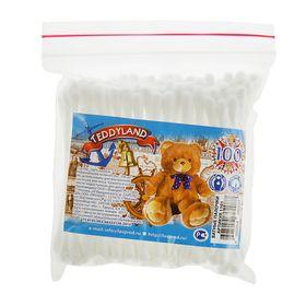 Ватные палочки Teddyland, 100 шт. в пакете зип лок Ош