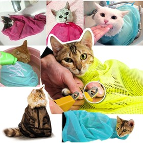 Bag cat grooming (bathing, grooming claws, vaccinations), pink