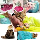 Мешок для груминга кошек (купание, уход за когтями, прививки), голубой