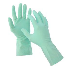 Перчатки хозяйственные резиновые размер M, цвет зелёный