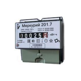 """Счетчик """"Меркурий"""" 201.7, 5-60 А, однофазный, однотарифный"""