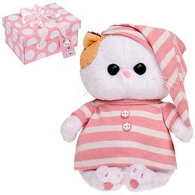 Мягкая игрушка «Кошечка Ли-Ли BABY», в полосатой пижамке, 20 см