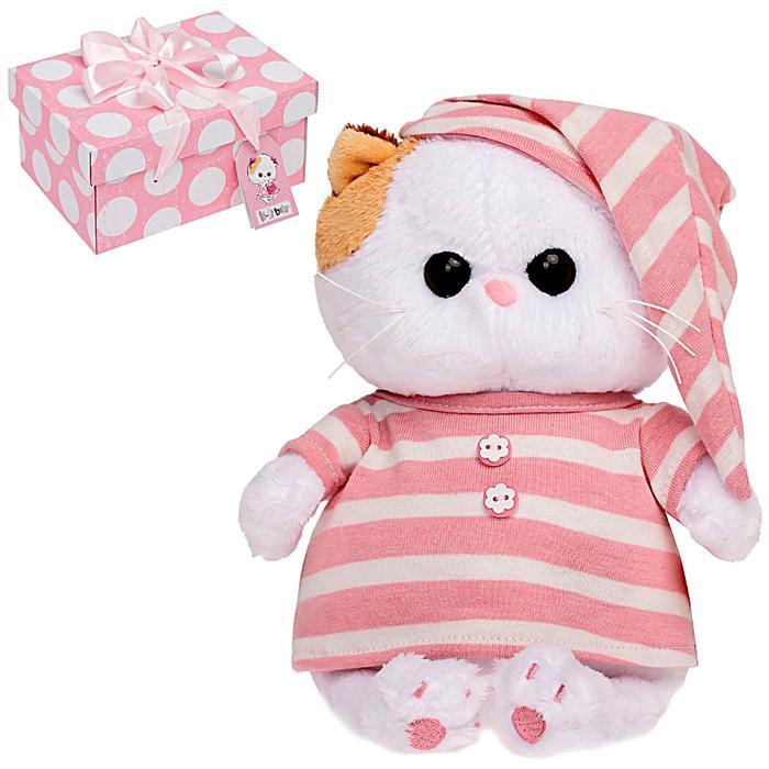 Мягкая игрушка «Кошечка Ли-Ли BABY», в полосатой пижамке, 20 см - фото 797804359
