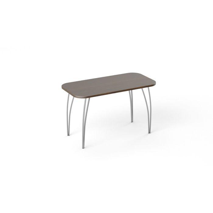 Стол обеденный Фигаро, дуб венге 1200Х600 мм, опоры серый металл, нераздвижной