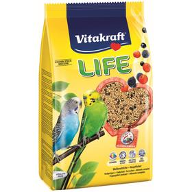 Корм VITAKRAFT LIFE для волнистых попугаев, 800 г.